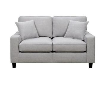 Lonnie Loveseat Sofa in Light Grey
