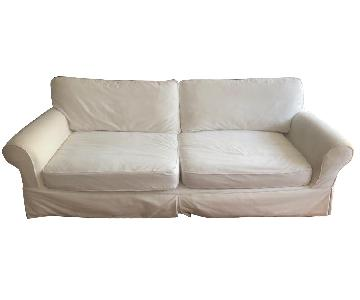 Restoration Hardware Grand-Scale Roll Arm Slipcovered Sofa