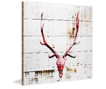 Parvez Taj Antlers on Wood - Large