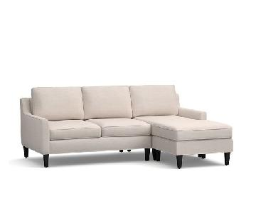 Pottery Barn Beverly Upholstered Sectional Sofa w/ Chaise