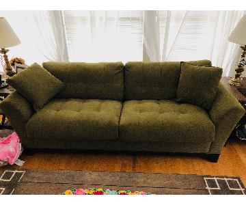 Raymour & Flanigan Herb Upholstered Tufted Sleeper Sofa