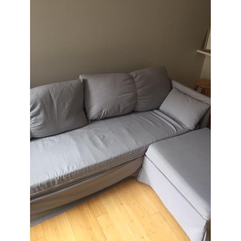 Ikea Sandbacken Corner 3 Piece Sleeper Sofa