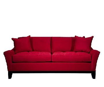 Raymour & Flanigan Red Sleeper Sofa