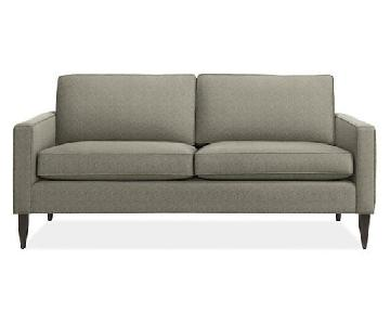 Room & Board Sofa in Dark Grey w/ Charcoal Brown Legs