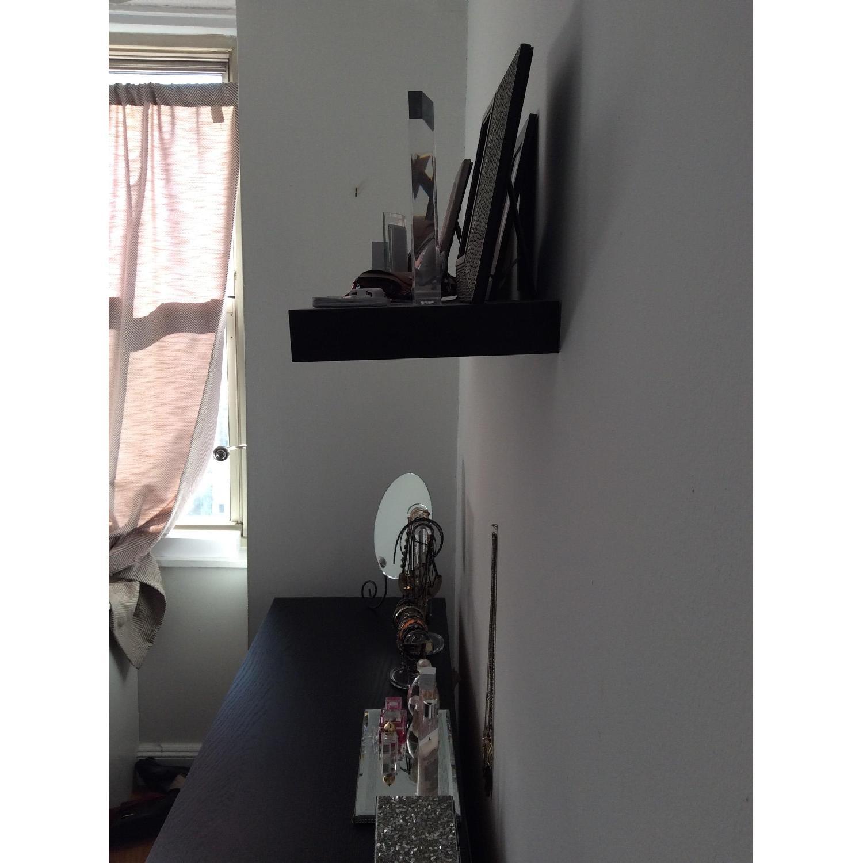 Ikea Malm Black Dresser Nightstand Matching Floating Shelf Aptdeco