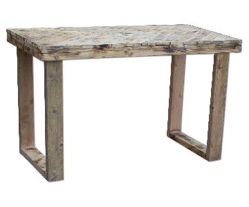 Creative X Soul Torched & Weathered Chevron Table