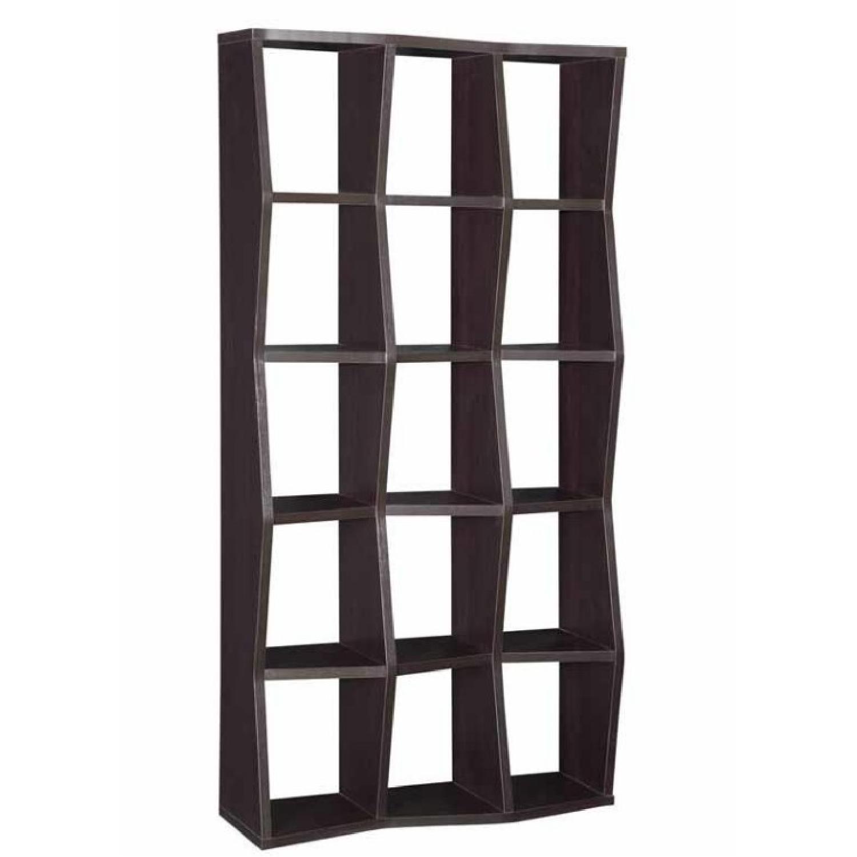 Contemporary Bookshelf w/ Artistically Shaped Asymmetrical S