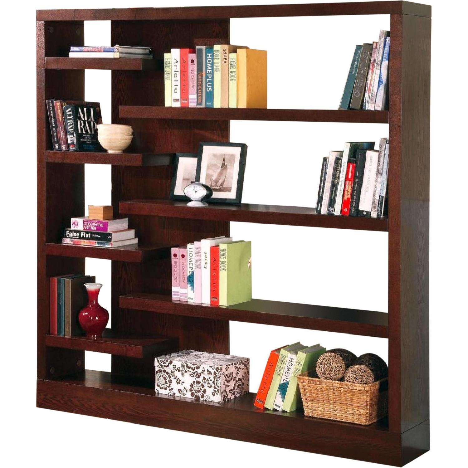 Modern Style Semi-Backless Bookcase/Display Unit in Warm Cap