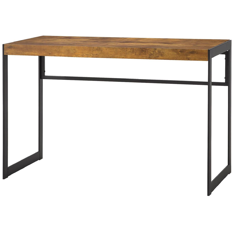 Modern Industrial Style Writing Desk w/ Gunmetal Metal Frame