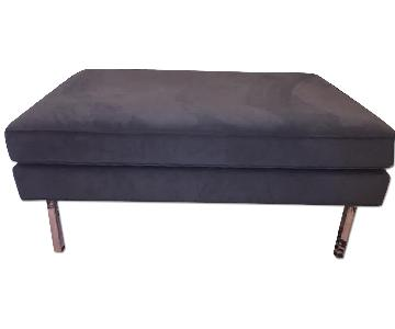 Design Within Reach Theater Ottoman in Slate Blue
