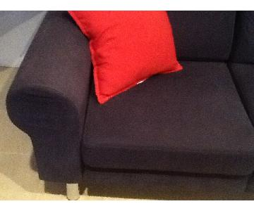 BoConcept Danish Contemporary Sofa in Blue Fabric