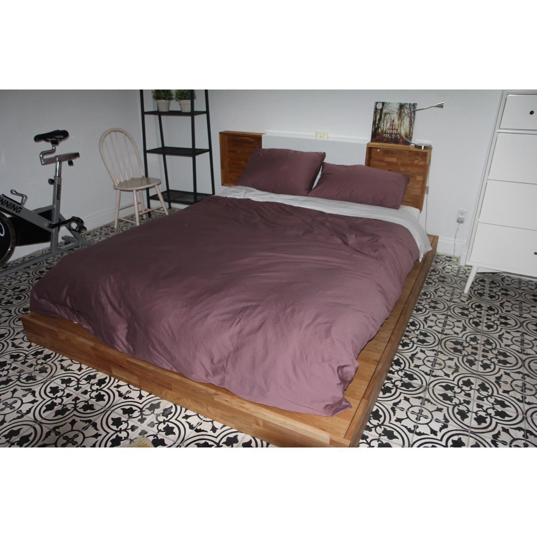 Lax Series Platform Bed lax series king size platform bed w/ storage headboard