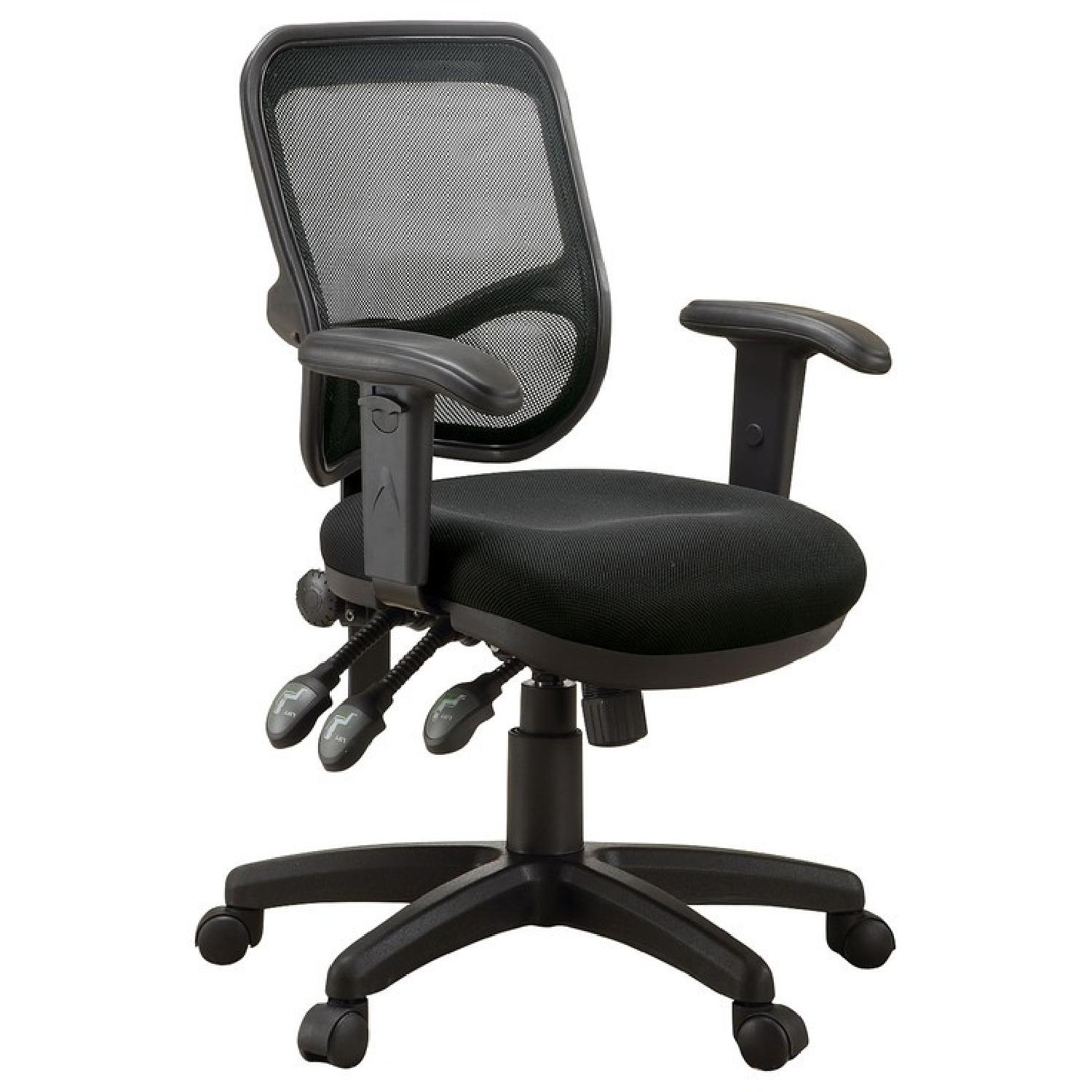 Contemporary Adjustable Ergonomic Seat Office Chair w/ Mesh Back