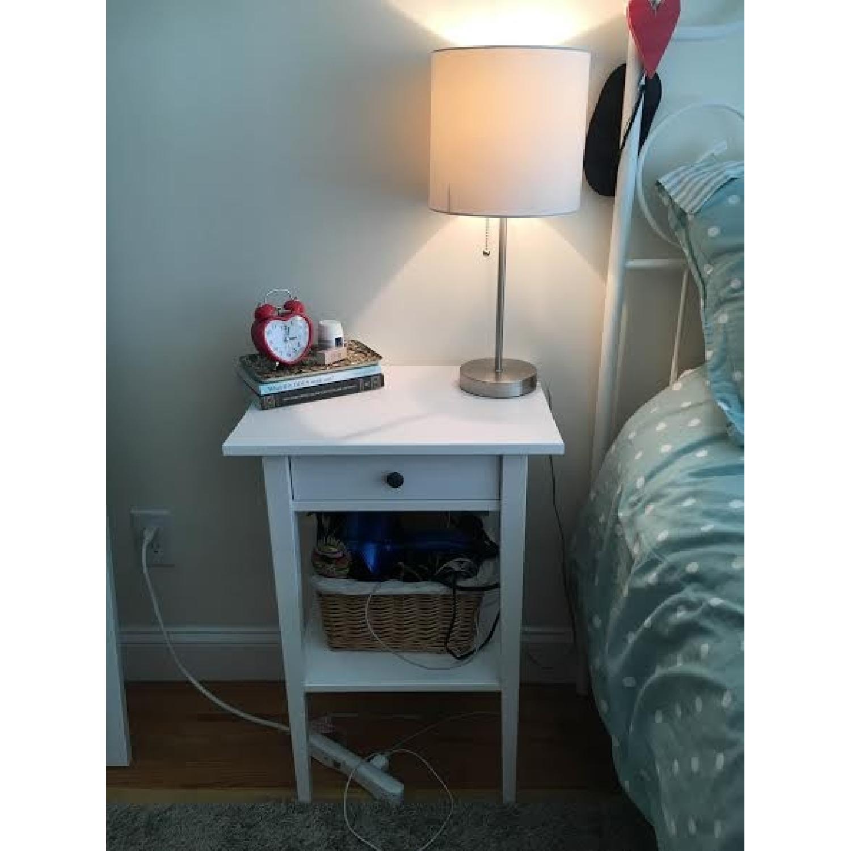 Ikea Hemnes White Bedside Table W Basket Aptdeco