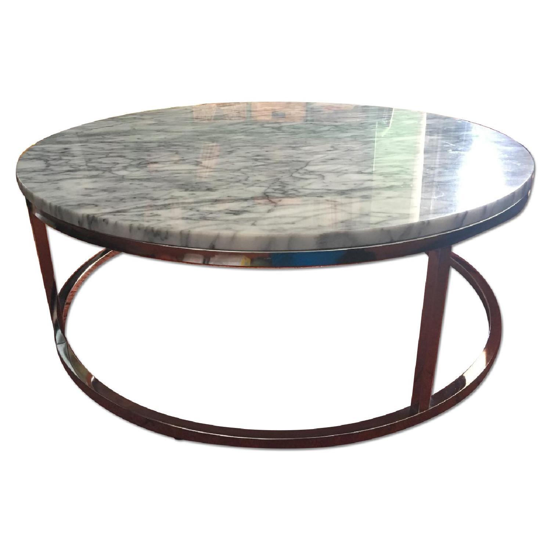 Cb2 Smart Round Marble Coffee Table Aptdeco