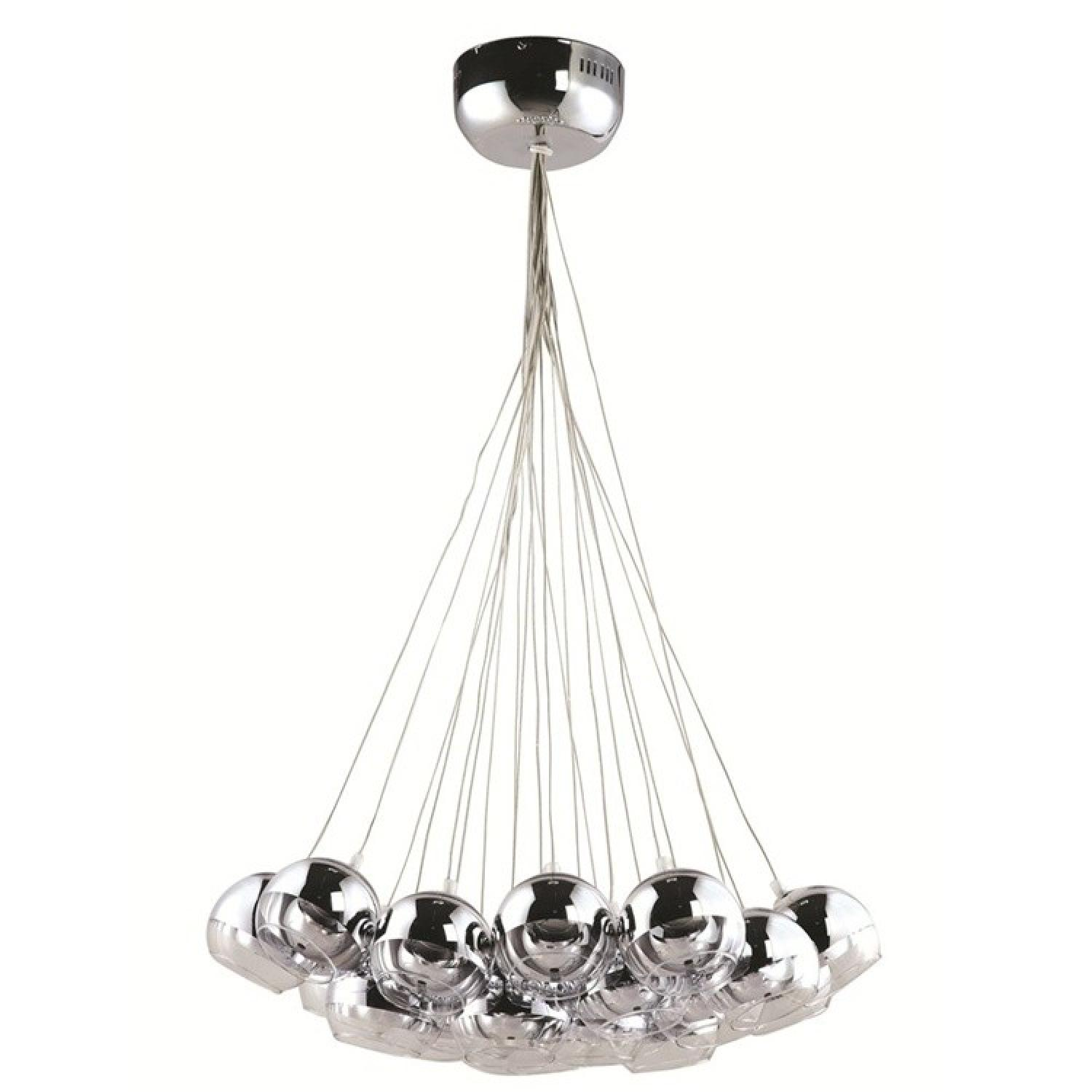 Modern Cup Hanging Chandelier in Silver Finish w/ Bulbs Included