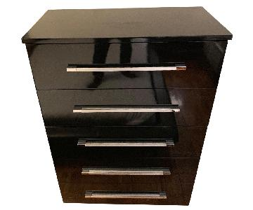Bob's High Gloss Black Tall 5-Drawer Dresser
