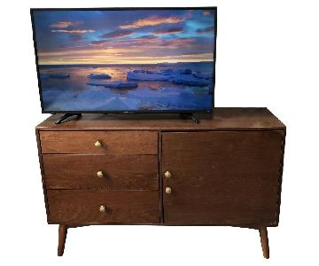 Mid Century Modern Walnut Credenza w/ Updated Hardware