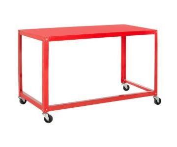Safavieh Bentley Modern Wheeled Red Desk