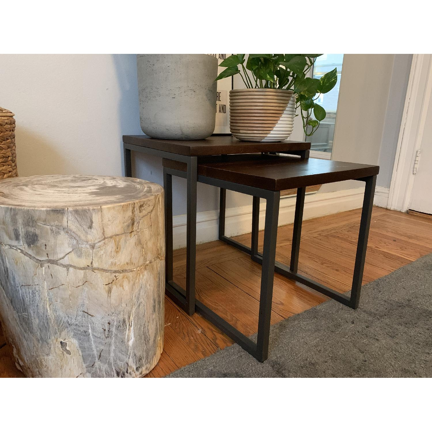 West Elm Box Frame Nesting Tables w/ Wood Top - image-2