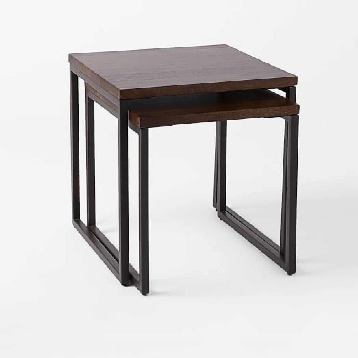 West Elm Box Frame Nesting Tables w/ Wood Top - image-4