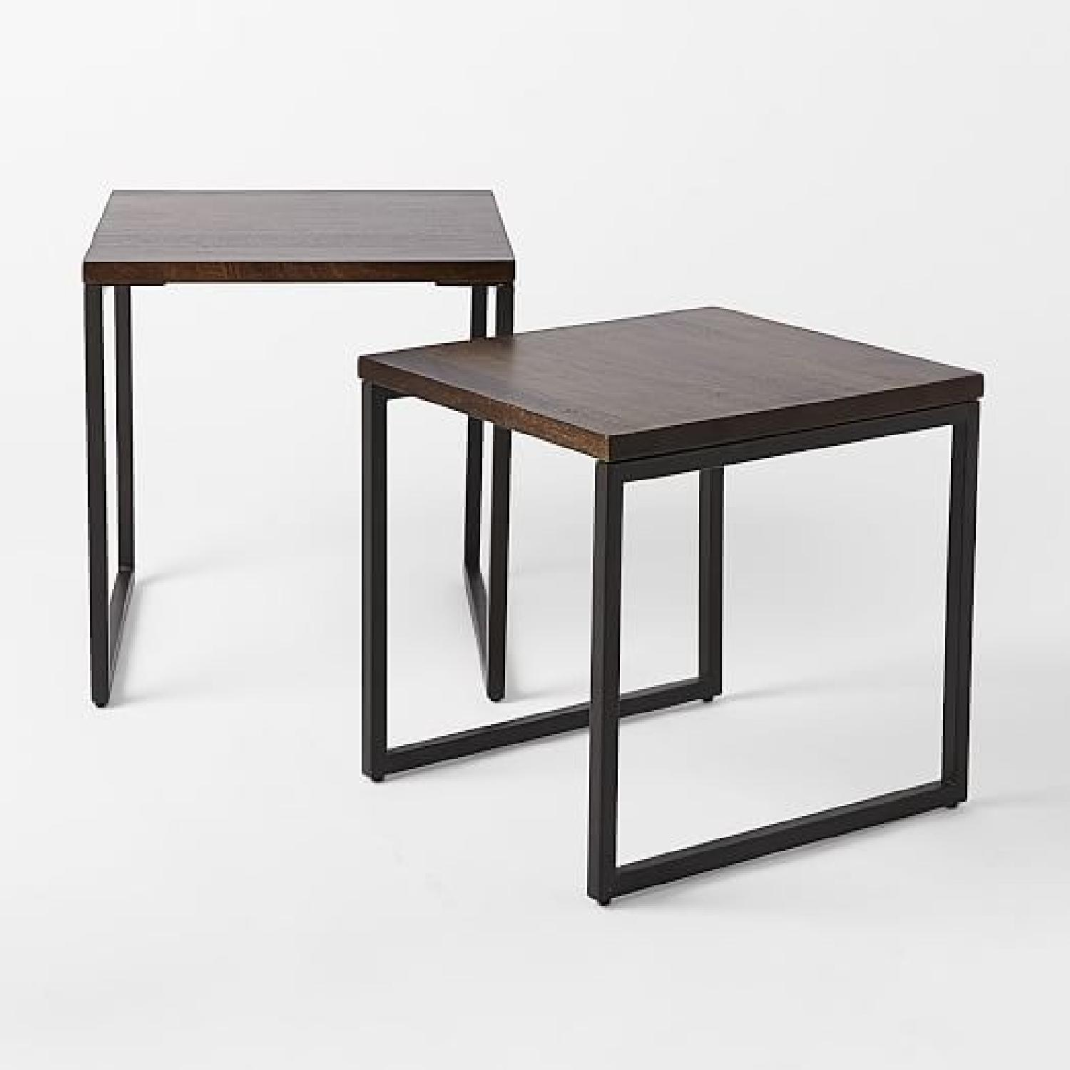 West Elm Box Frame Nesting Tables w/ Wood Top - image-5