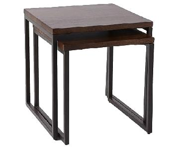 West Elm Box Frame Nesting Tables w/ Wood Top