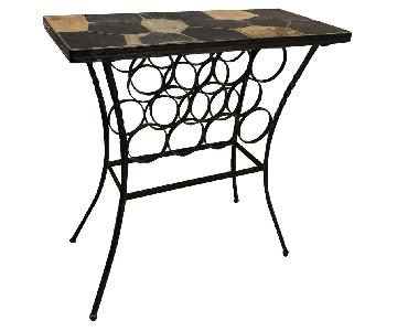 Pier 1 Slate & Iron Wine Rack Table