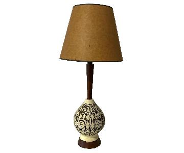 Vintage Patterned Table Lamp