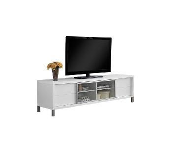 Encinas White TV Stand
