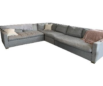 Restoration Hardware Belgian Track Arm Sectional Sofa