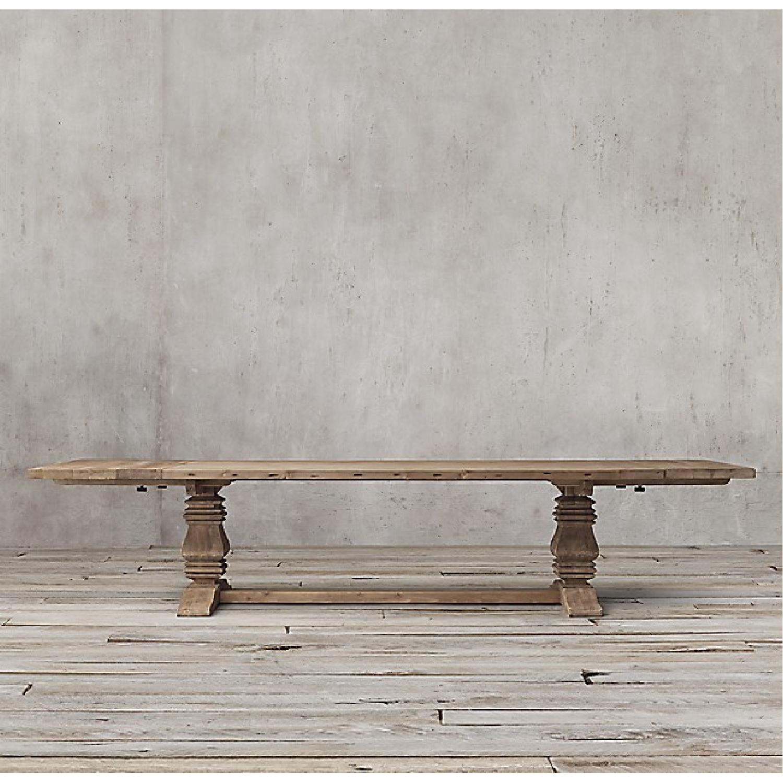 Restoration Hardware Salvaged Wood Trestle Dining Table Aptdeco