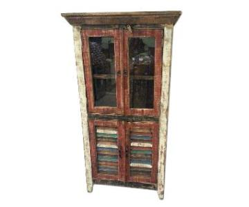 Rustic Multicolor Distressed Cupboard