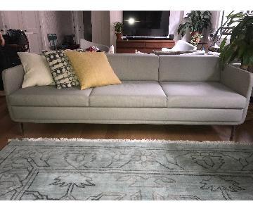 Bernhardt Design Gaia Warm Grey 3 Seater Sofa
