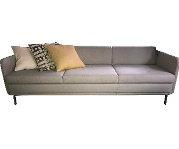 Bernhardt Design Gaia Warm Grey 3 Seater Sofa