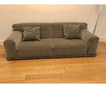Natuzzi Dorian Grey Fabric Sofa