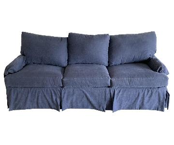 Safavieh Blue Slipcovered Sleeper Sofa