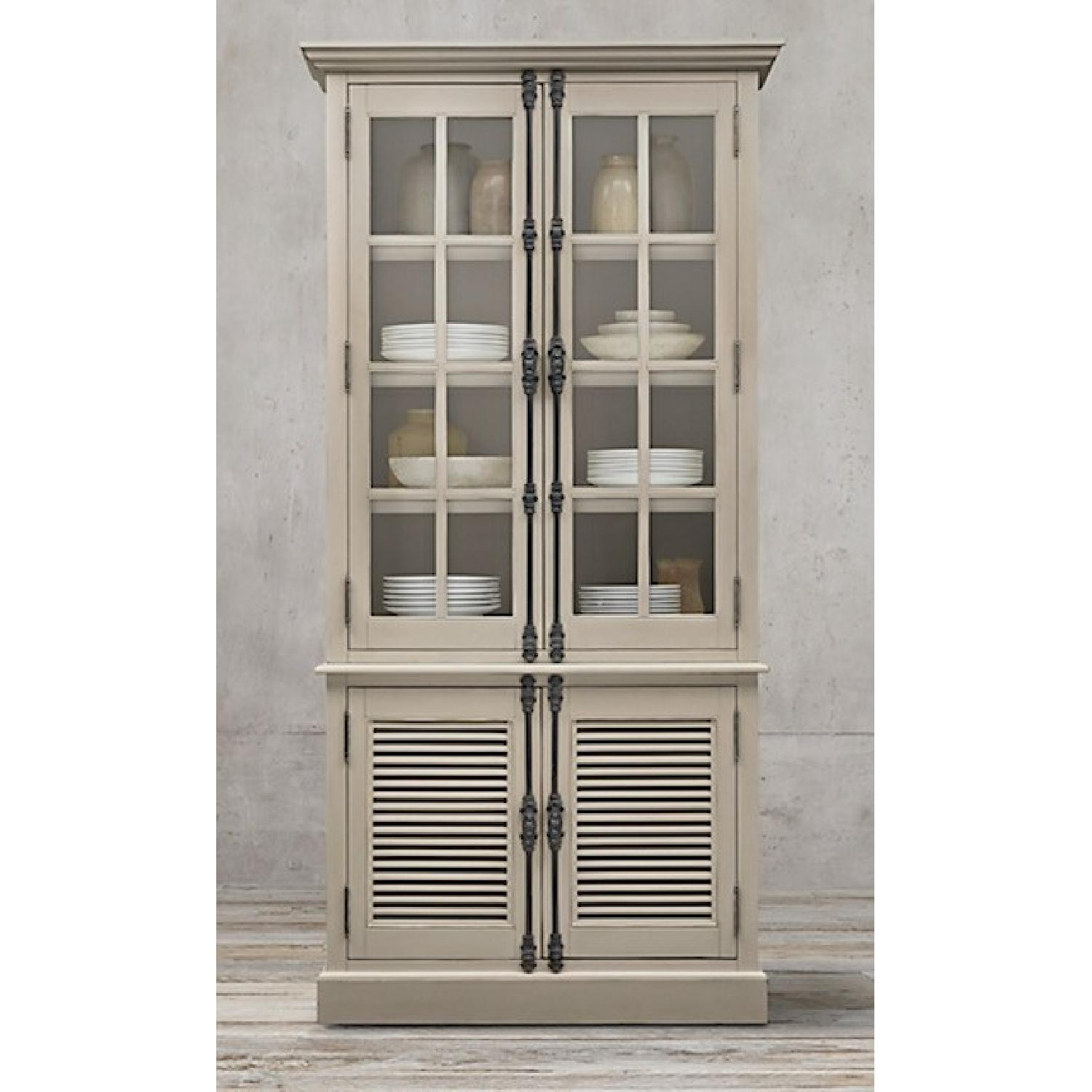 Restoration Hardware Shutter Double Door Sideboard Hutch 0