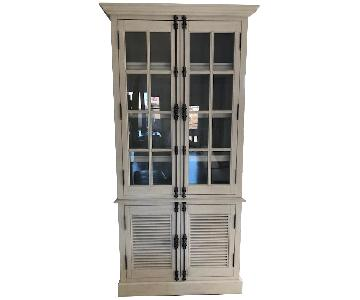 Restoration Hardware Shutter Double-Door Sideboard & Hutch