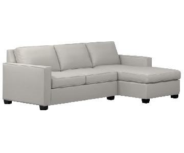 West Elm Henry 2 Piece Sleeper Sectional Sofa w/ Storage