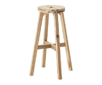 Ikea Wooden Backless Stools