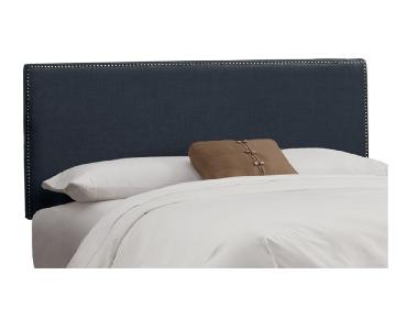 Skyline Furniture Nail Button Upholstered Panel Headboard