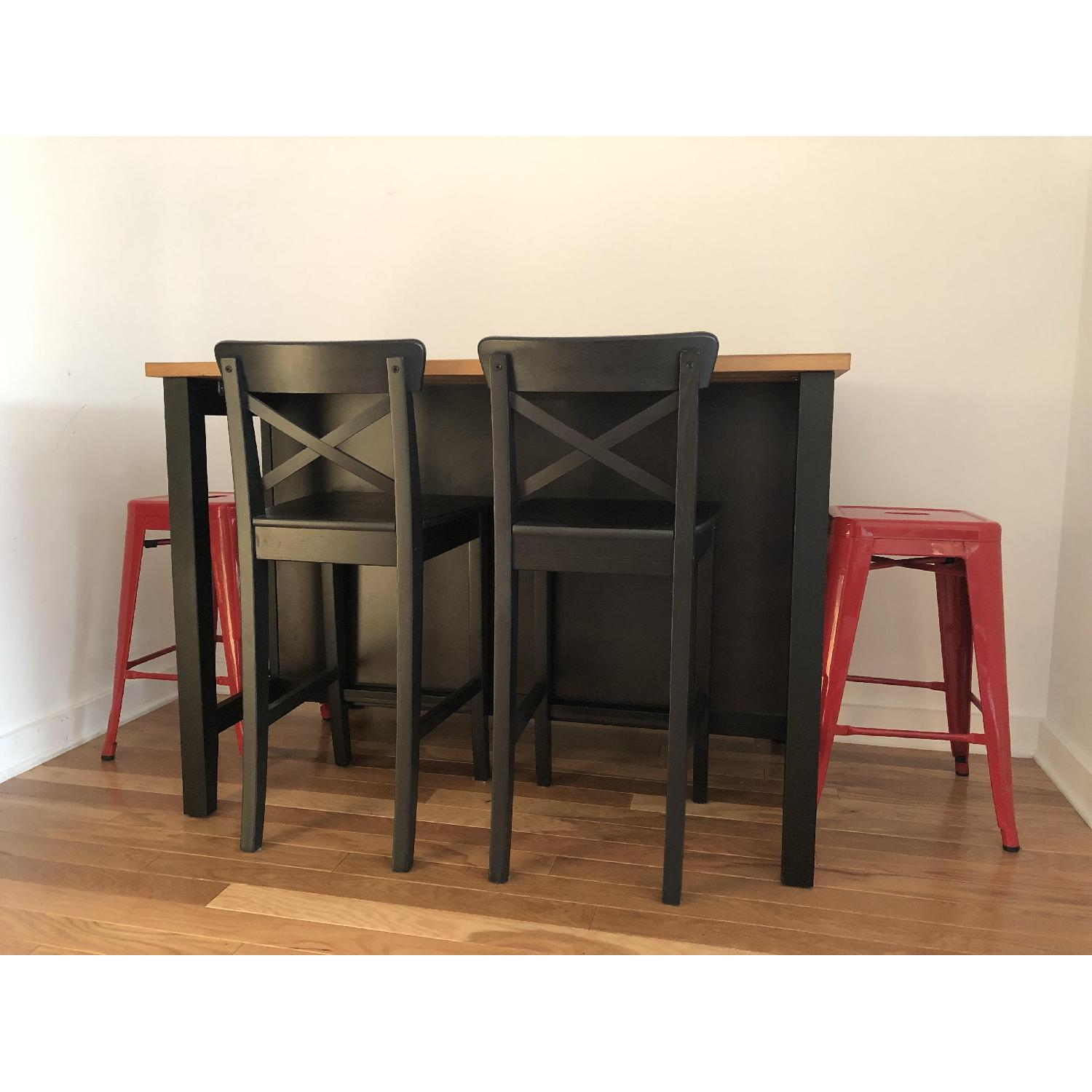 Ikea Kitchen/Dining Table w/ 4 Bar Stools