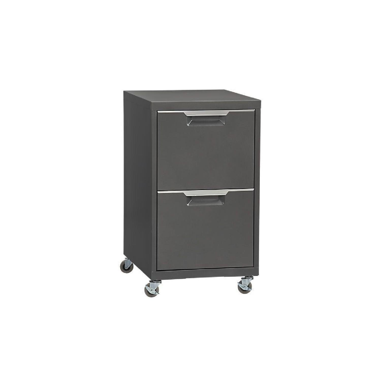 CB2 Dark Grey Filing Cabinet