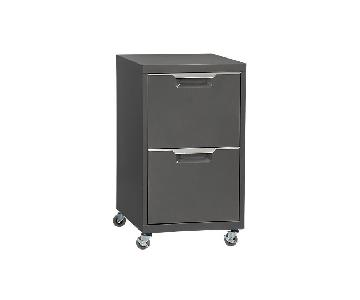 CB2 Dark Grey Filing Cabinet
