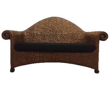 Ballard Designs Wicker Sofa