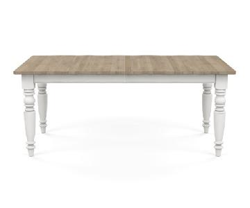 Ethan Allen Miller Rustic Small Extension Table