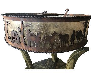 Antique Bronze Western Chandelier