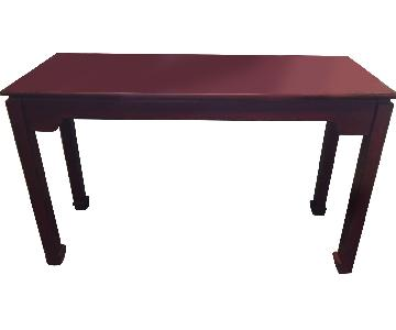 Pier 1 Red Console Table w/ Rub Stain Detailing