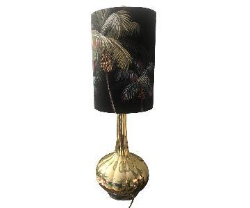 Waikiki Palm Trees Lamp in Black & Gold